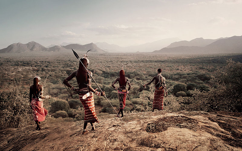 die massai in kenia